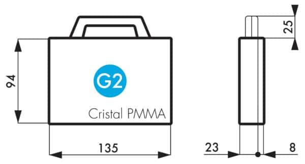 G2 Gamme Cristal en plexi