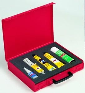 Valisette rouge pour produits LOCTITE
