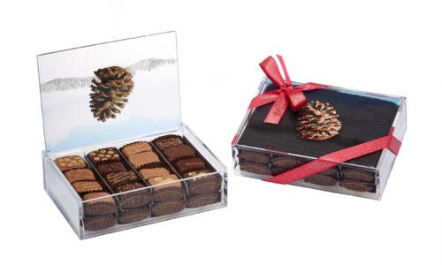 Boite alimentaire présentation chocolats